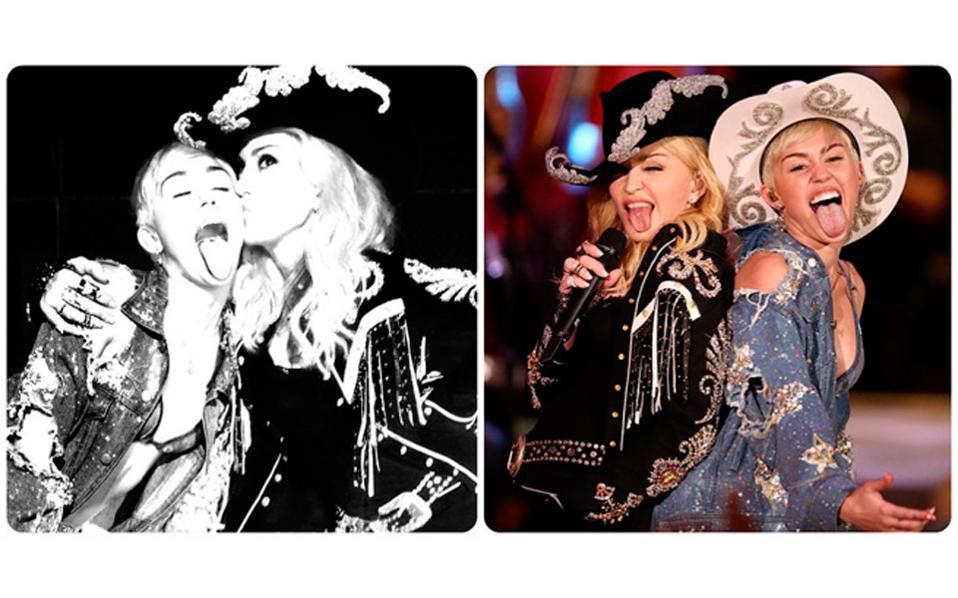 Οι δύο σταρ σε στιγμιότυπα από τη μαγνητοσκόπηση του show.