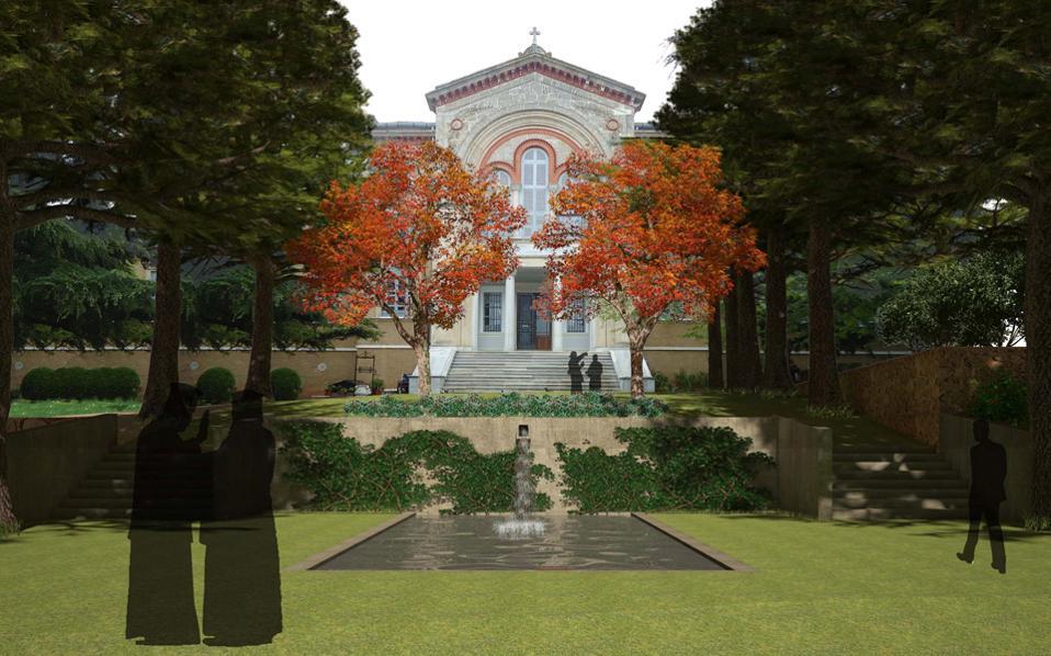 Τρισδιάστατη απεικόνιση της Θεολογικής Σχολής της Χάλκης.