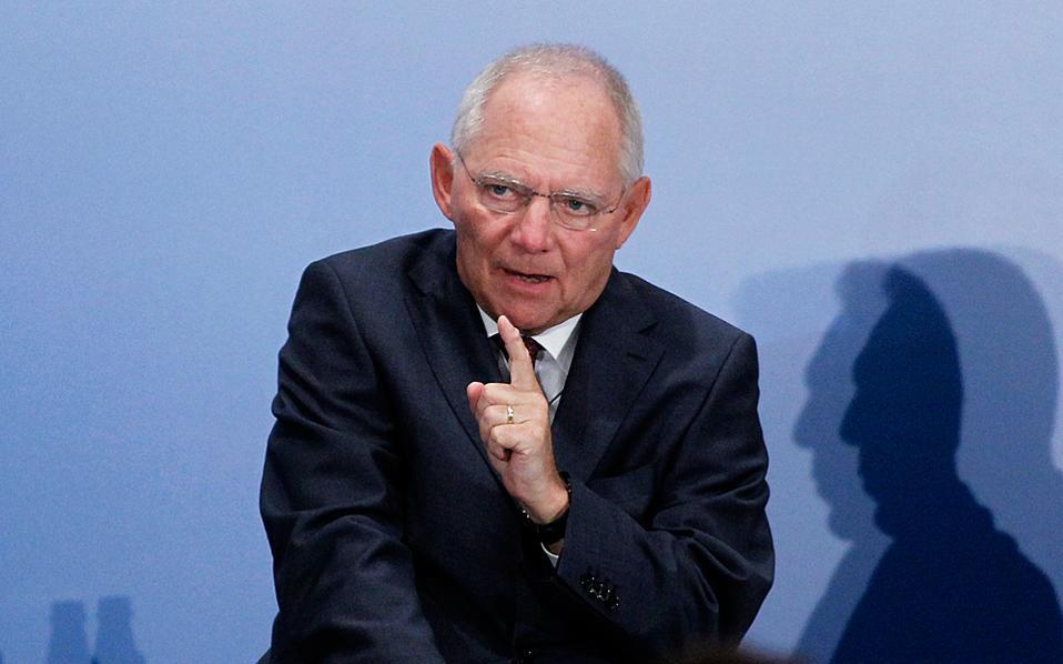 Ο Γερμανός υπουργός Οικονομικών Βόλφγκανγκ Σόιμπλε.