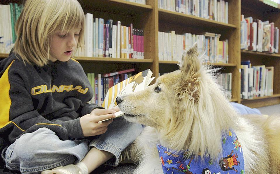 Τα σκυλιά μπορούν να γίνουν οι φύλακες-άγγελοι των μαθητών, όπως δείχνει το πρωτοποριακό πρόγραμμα που εφαρμόζεται στο σχολείο Καλέ στο Ουιπάνι της Νέας Υερσέης, στις ΗΠΑ.