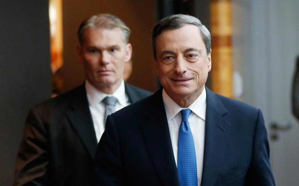 Ο επικεφαλής της ΕΚΤ, Μάριο Ντράγκι.