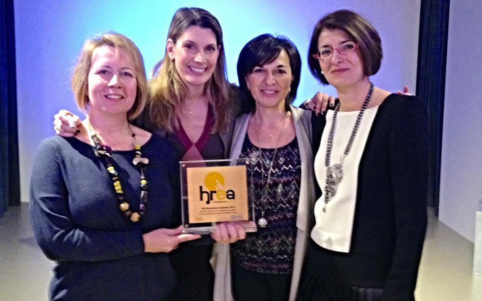 Η ομάδα Διαχείρισης Εργου του Solidarity Coaching HCA/EMCC Greece. Από αριστερά: Μαριαλέξια Μαργαρίτη, Στέλλα Βουλγαράκη, Καίτη Χαραλαμπίδου, Αλεξάνδρα Ελευθερίου.