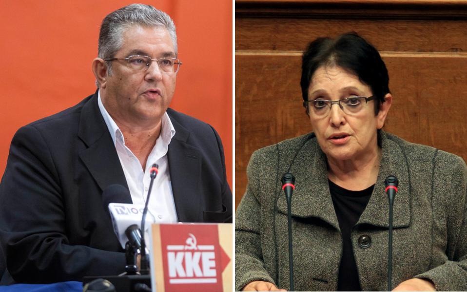 Ο γεν. γραμματέας του ΚΚΕ Δημ. Κουτσούμπας παρουσίασε χθες τα ψηφοδέλτια του ΚΚΕ.Παράλληλα, η κ. Αλέκα Παπαρήγα διέψευσε όσους ανέμεναν την απόσυρσή της από την ενεργό δράση.