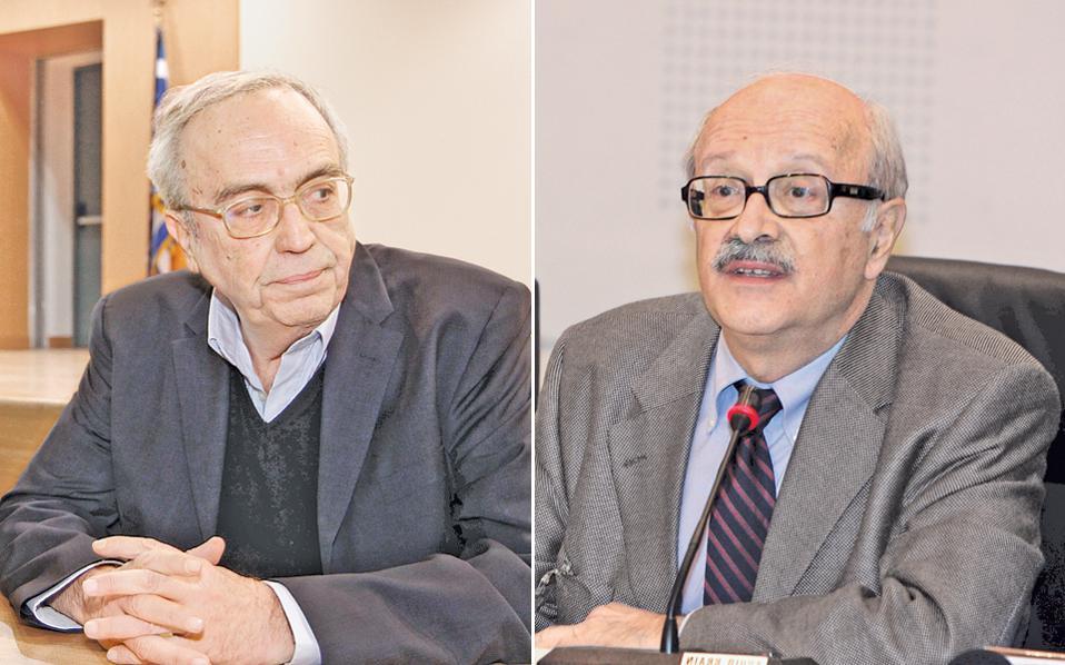 Ο υπουργός Παιδείας Αριστείδης Μπαλτάς και ο καθηγητής Θάνος Βερέμης ήταν συμμαθητές στο Κολλέγιο Αθηνών.