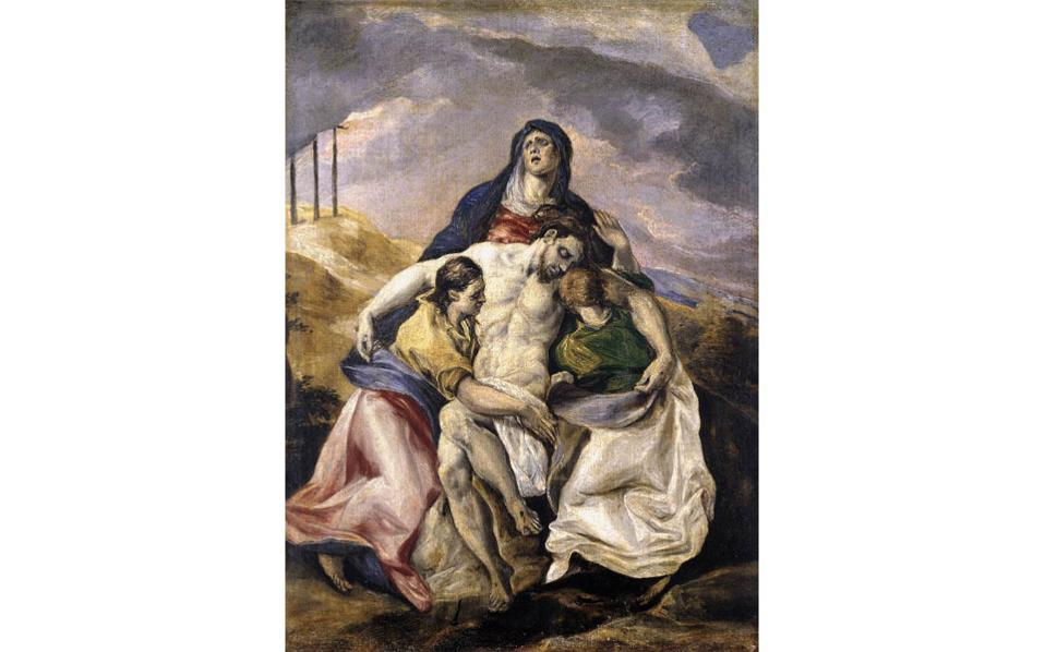 «Αποκαθήλωση», (περ. 1575). Ο Γκρέκο διδάχθηκε από Σιναΐτες μοναχούς την τέχνη της αγιογραφίας.