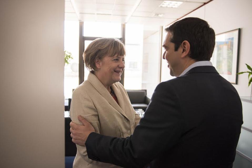 O κ. Τσίπρας με την Γερμανίδα Καγκελάριο, Αγκελα Μέρκελ.
