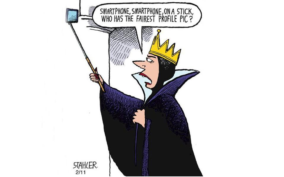 """Κατά τo """"καθρέφτη, καθρεφτάκη μου, ποια είναι η πιο ωραία;"""", η διάσημη κακιά του γνωστού παραμυθιού σήμερα θα απευθυνόταν στο κινητό της για το ποια έχει την καλύτερη εικόνα προφίλ στα μέσα κοινωνικής δικτύωσης."""