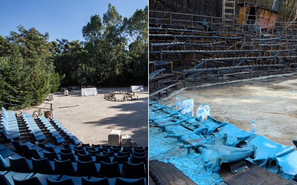 To Ευριπίδειο Θέατρο Ρεματιάς, στο Χαλάνδρι, κάηκε ολοσχερώς τη Δευτέρα, ως αποτέλεσμα εμπρηστικής ενέργειας. Στόχος του δήμου είναι το θερινό φεστιβάλ να πραγματοποιηθεί κανονικά.