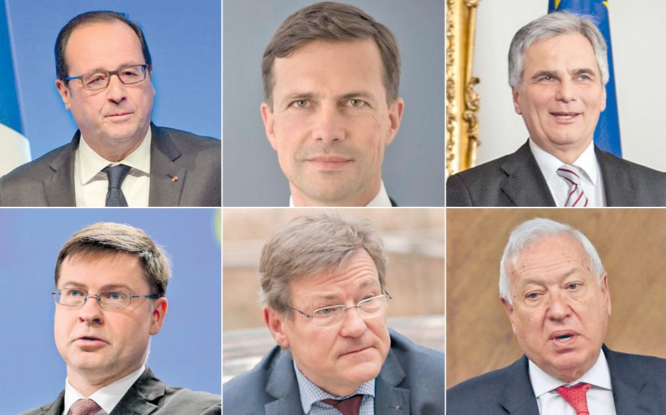Ο Γάλλος πρόεδρος Φρανσουά Ολάντ, ο εκπρόσωπος της γερμανικής κυβέρνησης Στέφεν Ζάιμπερτ, ο Αυστριακός καγκελάριος Βέρνερ Φάιμαν, ο αντιπρόεδρος της Κομισιόν Βάλντις Ντομπρόβσκις, ο Βέλγος υπουργός Οικονομικών Γιόχαν φαν Οβερτβελτ, ο Ισπανός υπουργός Εξωτερικών Χοσέ Μανουέλ Μαργκιάγιο απηύθυναν προειδοποιήσεις στην Αθήνα.
