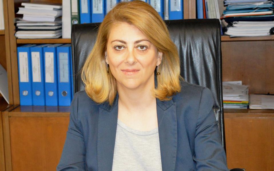 Η γενική γραμματέας Δημοσίων Εσόδων, Κ. Σαββαΐδου.