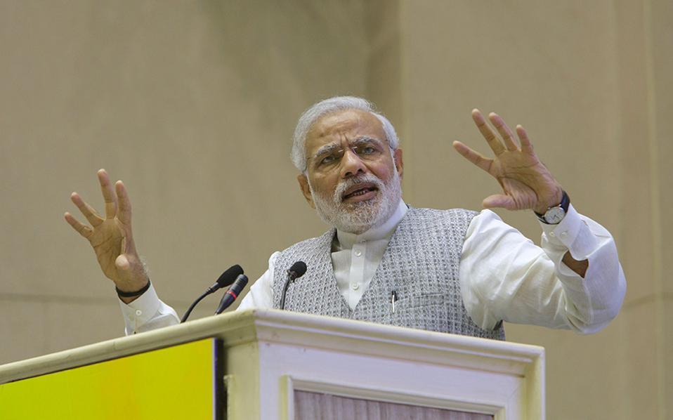 Στόχος του πρωθυπουργού Ναρέντρα Μόντι είναι η δημιουργία εκατομμυρίων νέων θέσεων εργασίας στη μεταποίηση.