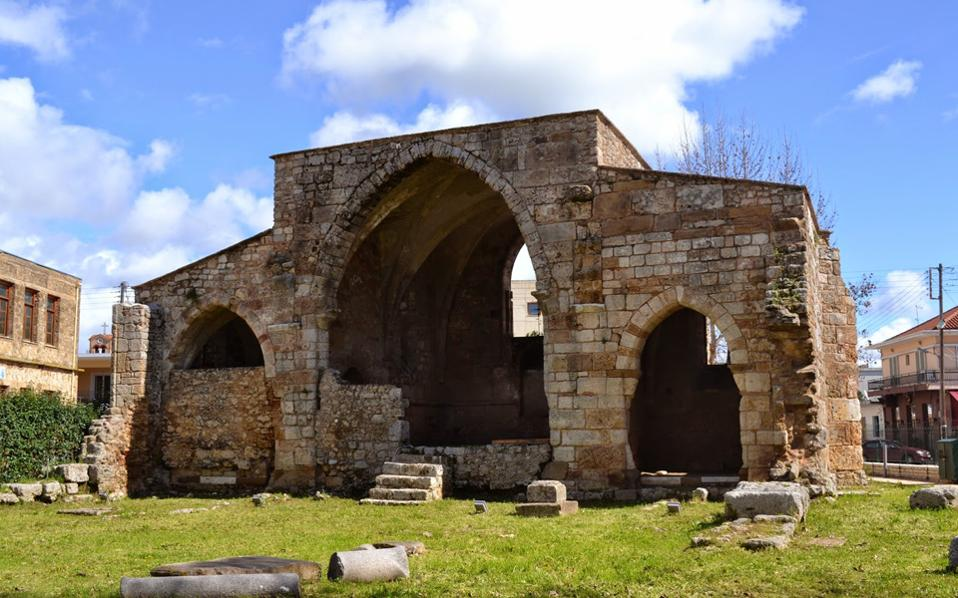 Ο αρχαιολογικός χώρος της Αγίας Σοφίας στην Ανδραβίδα.