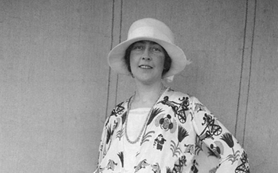Ανέκδοτη φωτογραφία της Αγκάθα Κρίστι από το προσωπικό αρχείο της οικογένειάς της.