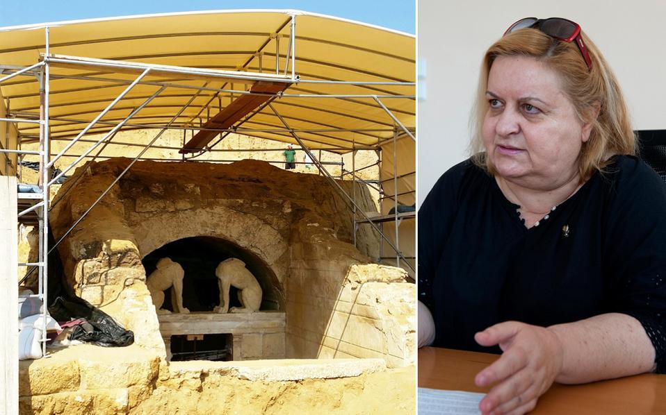 Το μνημείο στην Αμφίπολη γίνεται πάλι αντικείμενο νέας αντιπαράθεσης. «Στην Ελλάδα έχουμε την τάση να τρώμε τις σάρκες μας», λέει η κ. Περιστέρη.