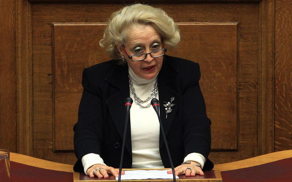 Η πρόεδρος του Αρείου Πάγου, Βασιλική Θάνου - Χριστοφίλου.