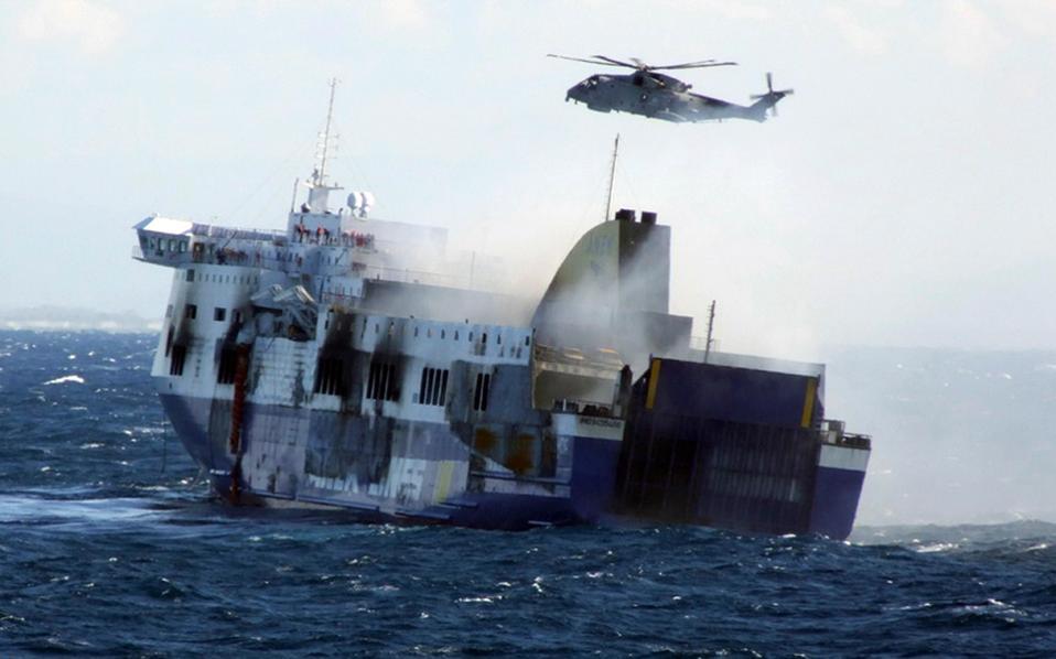 Δραματικές στιγμές έζησαν πάνω από 500 άτομα που επέβαιναν στο φλεγόμενο πλοίο «Norman Atlantic», το οποίο εκτελούσε το δρομολόγιο Πάτρα-Ηγουμενίτσα-Ανκόνα.