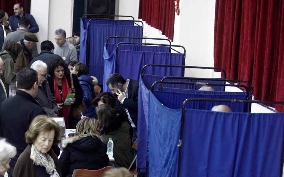 Στα εκλογικά τμήματα που ψήφισαν τον Δεκέμβριο θα πρέπει να προσέλθουν οι «γαλάζιοι» εκλογείς για τον β΄ γύρο της εκλογής προέδρου στη Ν.Δ.