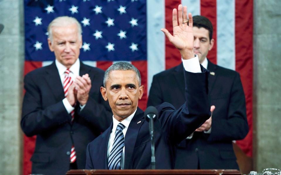 Στην τελευταία ομιλία του κατά τη διάρκεια της θητείας του για την κατάσταση του έθνους, ο πρόεδρος Ομπάμα απηύθυνε μήνυμα αισιοδοξίας, καλώντας τους Αμερικανούς να «ασπασθούν τις εκπληκτικές αλλαγές» που συντελούνται γύρω τους.
