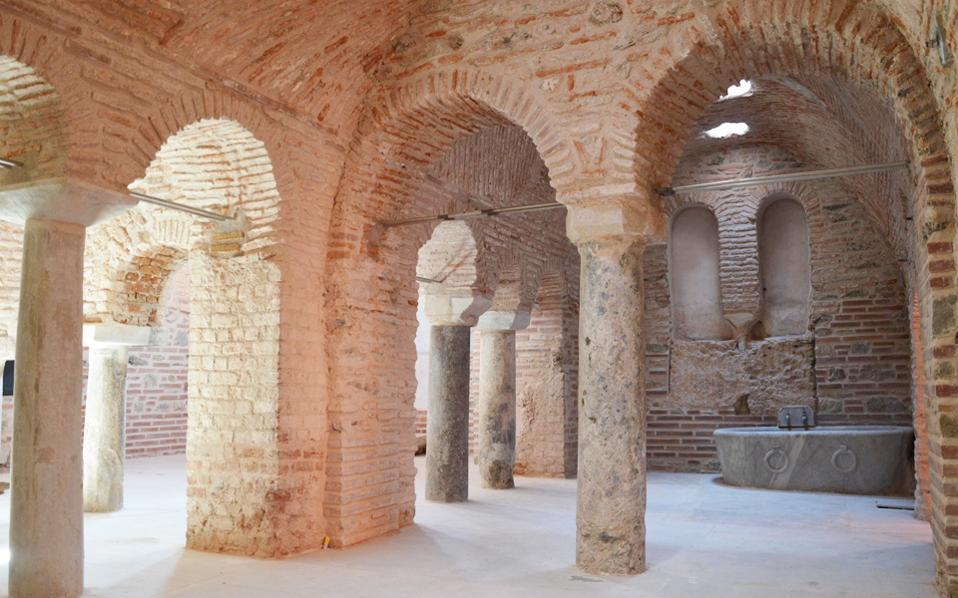 Μετά τη Ροτόντα, το Βυζαντινό Λουτρό Ανω Πόλης ανοίγει στο κοινό.