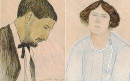 Ο Νίκος Δραγούμης ζωγραφισμένος από τη Λίντια Μπόρζεκ. Και η Ρωσίδα ζωγραφισμένη από τον αγαπημένο της. Η έκθεση στο ΜΙΕΤ ξεδιπλώνει μια συγκινητική ερωτική ιστορία δύο ανθρώπων που δεν ευτύχησαν να ζήσουν μαζί.