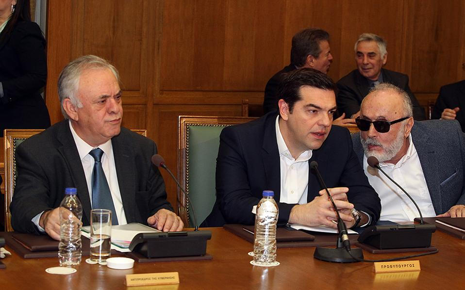 Πρόσκληση στους αγρότες να προσέλθουν στο τραπέζι του διαλόγου για να συζητήσουν το ασφαλιστικό απηύθυνε εκ νέου ο πρωθυπουργός, Αλέξης Τσίπρας, μιλώντας στο υπουργικό συμβούλιο, δηλώνοντας ότι υπάρχουν σημαντικές δυνατότητες βελτιώσεων, όσων αφορά τις εισφορές και τη μεταβατικότητα των διατάξεων. ΑΠΕ-ΜΠΕ / ΠΑΝΤΕΛΗΣ ΣΑΙΤΑΣ