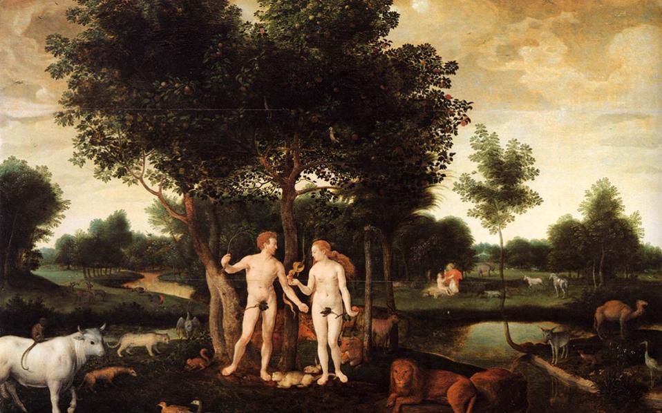 «Ο Παράδεισος με τη Δημιουργία και την Πτώση του Ανθρώπου», έργο αγνώστου Ολλανδού ζωγράφου χρονολογημένο το 1576.