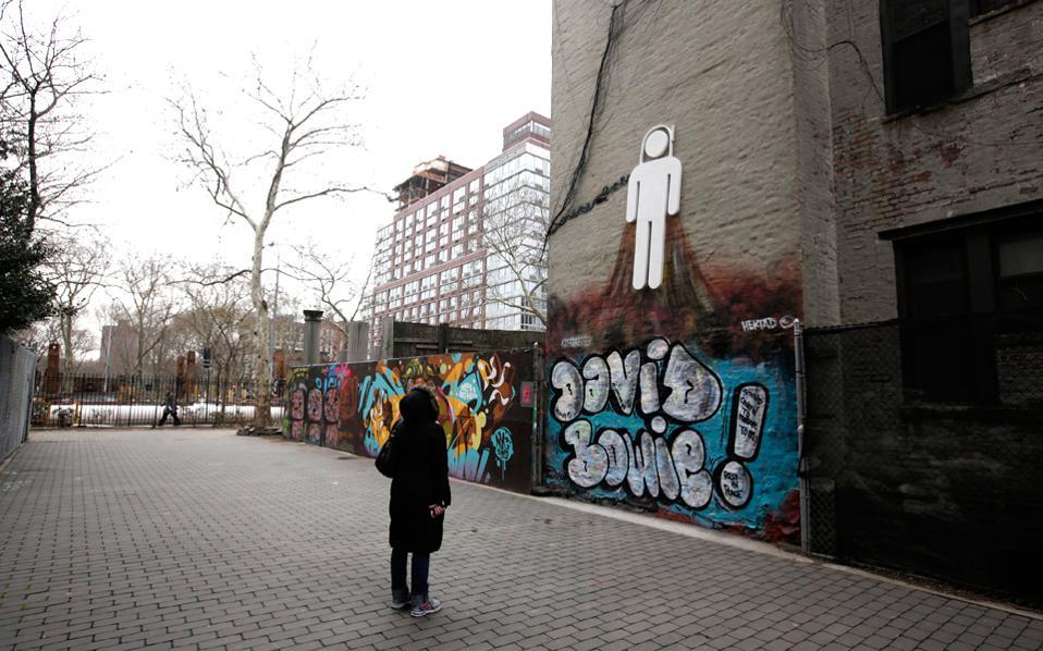 Γκράφιτι του street artist Hektad and Pictoform σε τοίχο του Μανχάταν. (Φωτογραφία: EPA)
