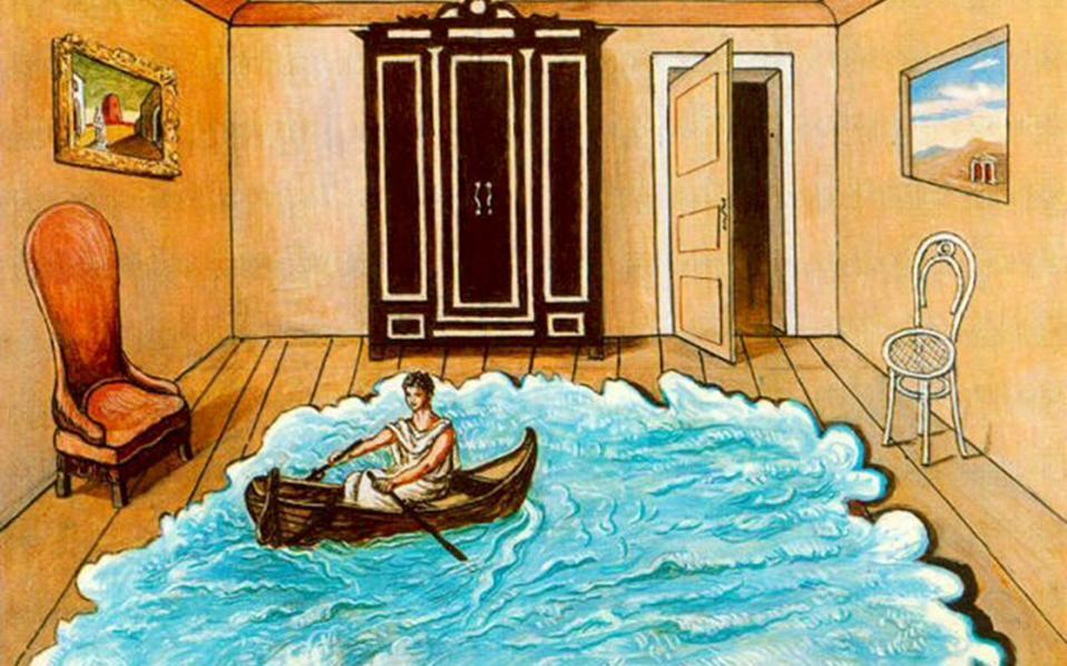 «Η επιστροφή του Οδυσσέα» του Τζόρτζιο ντε Κίρικο. Δεν είναι ο Οδυσσέας που νοσταλγεί την Ιθάκη, είναι και η Ιθάκη που δεν μπορεί να τον κρατήσει πέρα από τρεις μέρες...