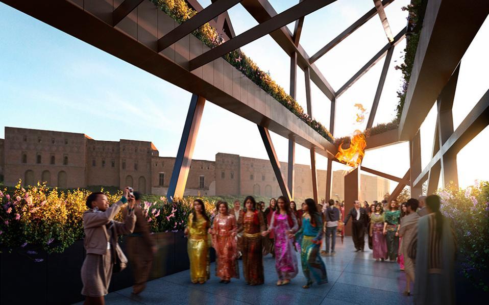 Το Κουρδικό Μουσείο του Ερμπίλ θα αποτελείται από τέσσερις όγκους, που συμβολίζουν τις τέσσερις χώρες όπου ζουν οι Κούρδοι.