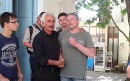Η ομάδα των Γερμανών επισκέφθηκε και το λαογραφικό μουσείο, όπου συνομίλησε με τοπικούς παράγοντες, όπως ο κ. Πνευματικάκης που τους υποδέχθηκε.