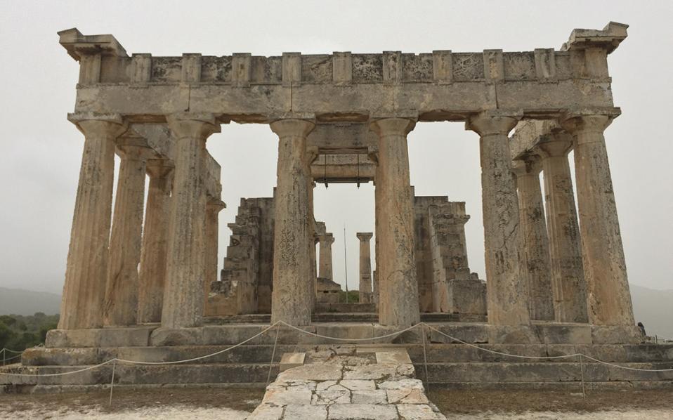 Ο Ναός της Αφαίας, της άφαντης θεάς, σπουδαίο μνημείο της Αίγινας.