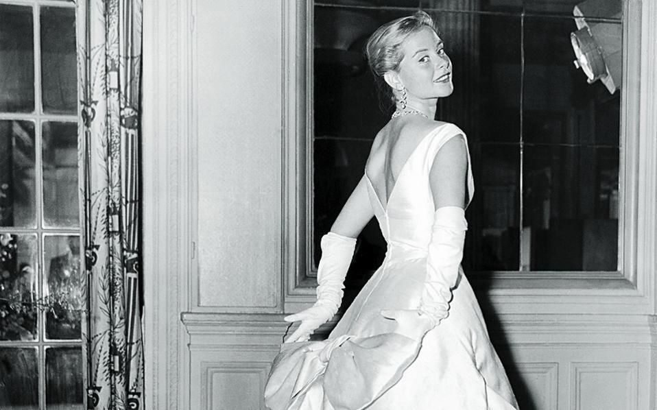 Η Geneviève Page με Christian Dior, Λονδίνο 1957