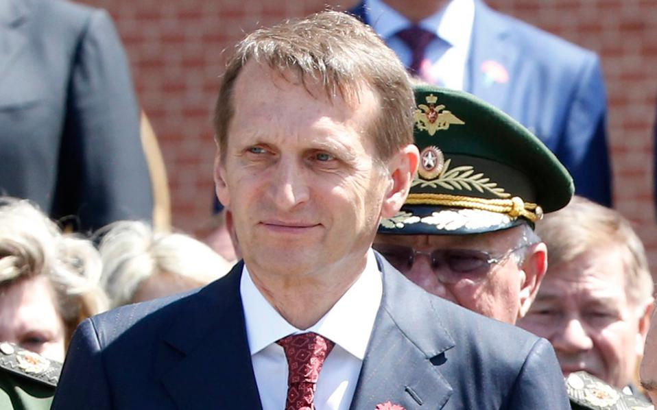 Ο Σεργκέι Ναρίσκιν είναι ο τρίτος στη ρωσική ιεραρχία μετά τον Βλαντιμίρ Πούτιν και τον Ντμίτρι Μεντβέντεφ.