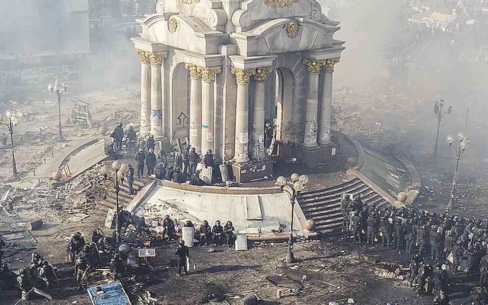 Φωτογραφία του Maxim Dondyuk από τις διαδηλώσεις του 2014 στο Κίεβο.
