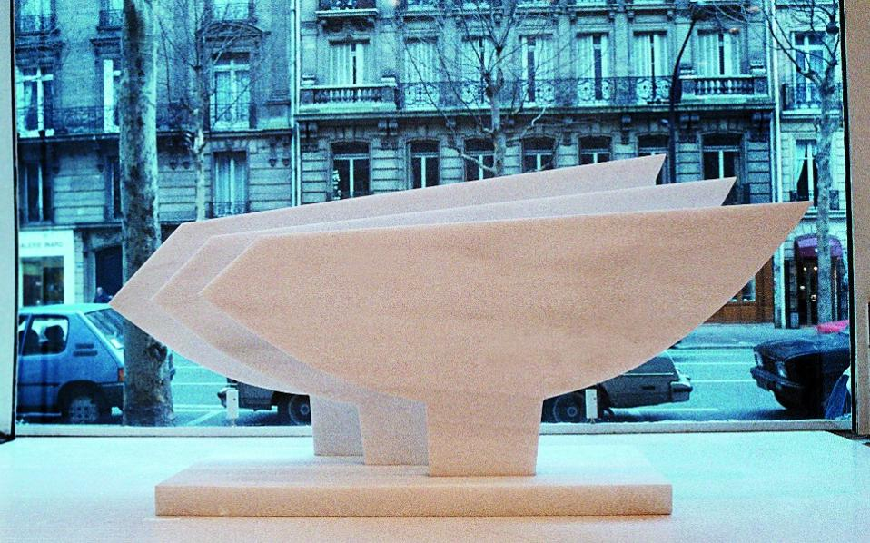 Καρνάγιο, 1984, στην Galerie Denise René Paris.