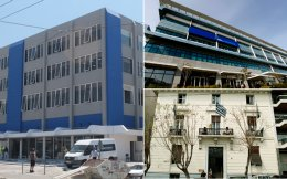 Τρεις μετακομίσεις σε μια πενταετία για τη Νέα Δημοκρατία. Αφού άφησε το ιστορικό κτίριο της Ρηγίλλης (κάτω δεξιά) το 2011 για τα υπερσύγχρονα γραφεία της λεωφόρου Συγγρού (πάνω δεξιά), τώρα εγκαταλείπει και αυτά για λόγους οικονομίας. Το κτίριο στο Μοσχάτο έχει μηνιαίο ενοίκιο στο 1/10 της μέχρι σήμερα δαπάνης.
