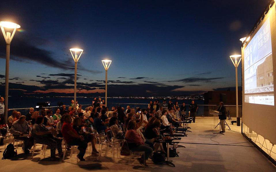 Σινεμά με υπέροχη θέα στο Μέγαρο Μουσικής Θεσσαλονίκης.