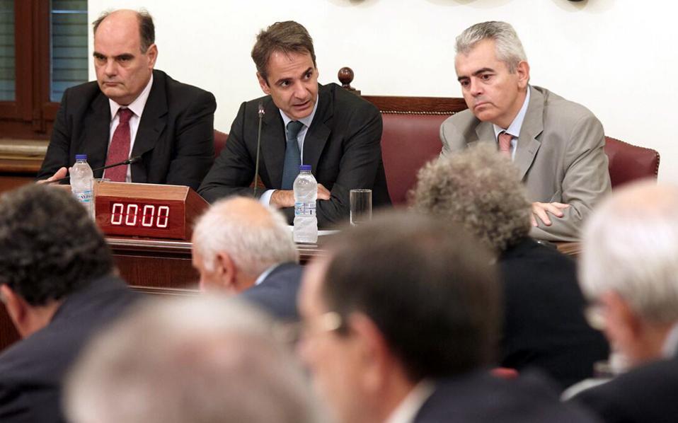 Με τους προέδρους και αναπληρωτές προέδρους των Συμβουλίων των ΑΕΙ συναντήθηκε χθες ο κ. Μητσοτάκης.