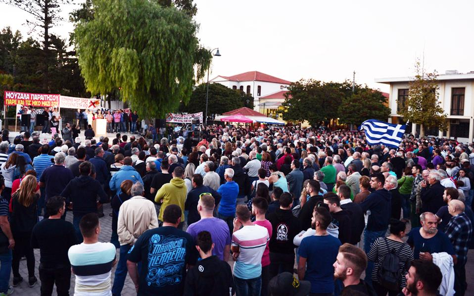 Eιρηνικά ολοκληρώθηκε η συγκέντρωση διαμαρτυρίας των κατοίκων χθες στη Χίο.