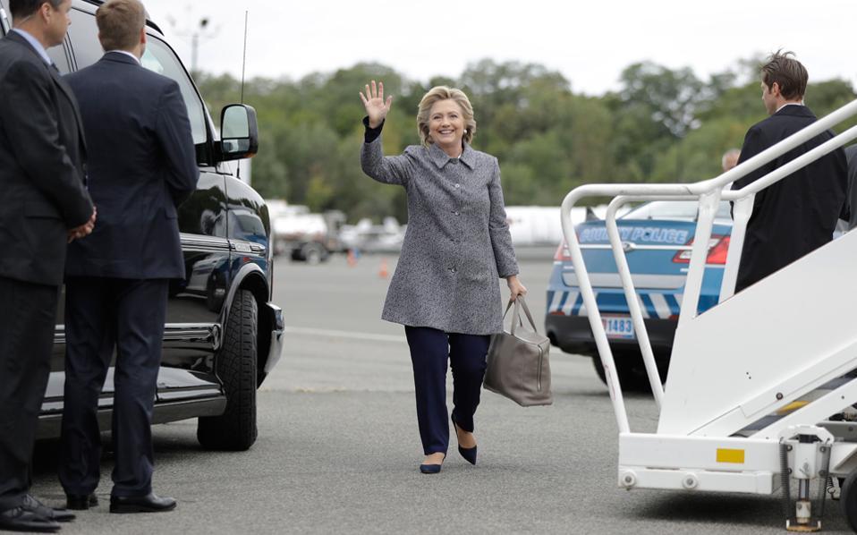 Η υποψήφια των Δημοκρατικών Χίλαρι Κλίντον.