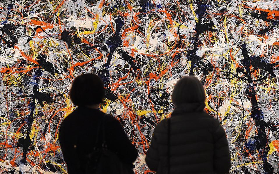 Εσύ τι βλέπεις; Ανοίγει για το κοινό η έκθεση «Αφηρημένος Εξπρεσιονισμός »  στην Βασιλική Ακαδημία  Τεχνών του Λονδίνου. Στην φωτογραφία ο πίνακας του Αμερικανού Jackson Pollock με τίτλο «Blue Poles» του 1952. Η έκθεση θα διαρκέσει μέχρι τις 2 Ιανουαρίου 2017. EPA/ANDY RAIN