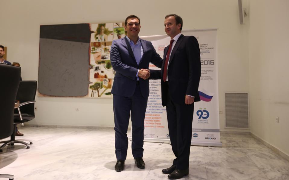 Από τη συνάντηση με τον αντιπρόεδρο της Ρωσίας, Αρκάντι Ντβορκόβιτς.