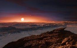 Εικαστική απεικόνιση της επιφάνειας του «Εγγύτατου Κενταύρου β΄» που ανακαλύφθηκε στο πλαίσιο του επιστημονικού προγράμματος Pale Red Dot.