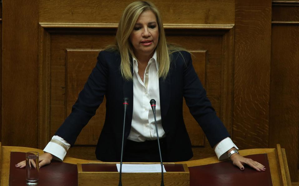 Η Φώφη Γεννηματά εξαπέλυσε σφοδρή επίθεση στη κυβέρνηση για το πολυνομοσχέδιο, κάνοντας λόγο για ξεπούλημα της χώρας.
