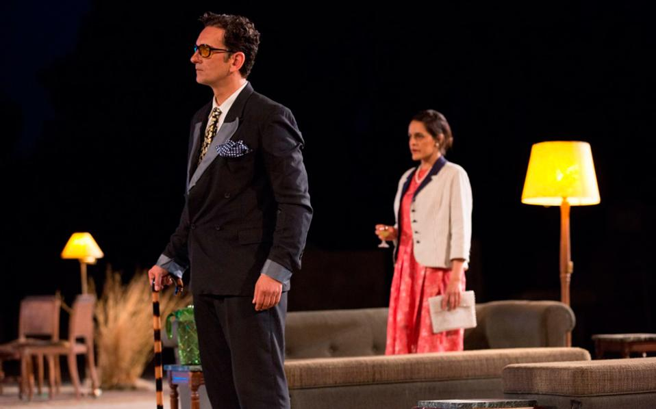 Στιγμιότυπο από την «Ορέστεια» του Αισχύλου σε σκηνοθεσία Γιάννη Χουβαρδά.