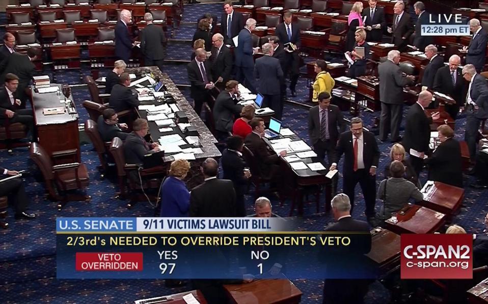 Το Κογκρέσο απέρριψε το βέτο του Ομπάμα για τις μηνύσεις κατά Σαουδικής Αραβίας