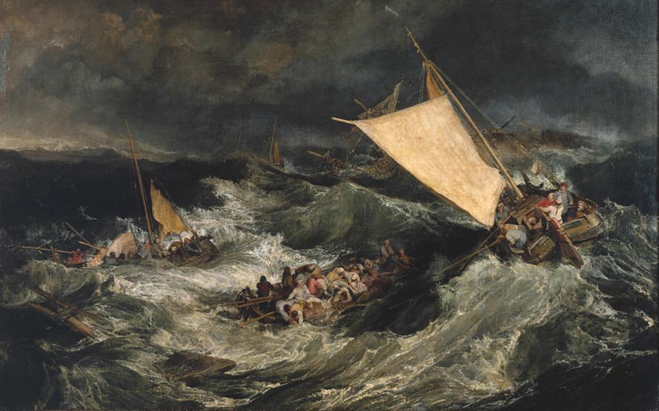 «Το ναυάγιο» του Βρετανού ζωγράφου Ουίλιαμ Τέρνερ, πίνακας φιλοτεχνημένος το 1805.