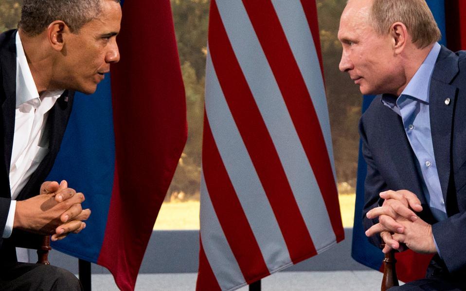 Ομπάμα και Πούτιν σε παλαιότερη συνάντησή τους στη Βόρεια Ιρλανδία. Η πρόσφατη κλιμάκωση της κρίσης στη Συρία βύθισε στο ναδίρ τις σχέσεις ανάμεσα σε Ουάσιγκτον και Μόσχα.