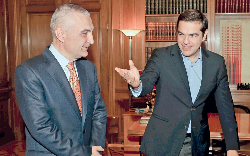 Με τον πρόεδρο του Κοινοβουλίου της Δημοκρατίας της Αλβανίας Ιλιρ Μέτα συναντήθηκε χθες ο πρωθυπουργός Αλέξης Τσίπρας στο Μέγαρο Μαξίμου.