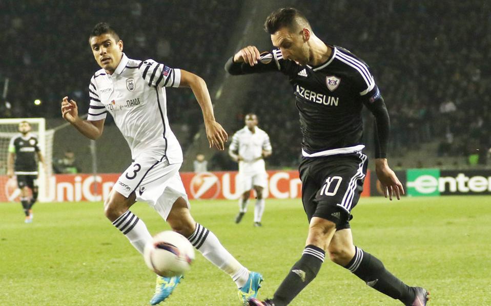 Ηττα με 2 - 0 γνώρισε ο ΠΑΟΚ στο Μπακού από την Καραμπάχ.